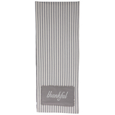 Thankful Ticking Striped Table Runner