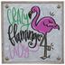 Crazy Flamingo Lady Metal Decor