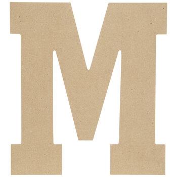 """Wood Letter M - 13"""""""