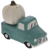 Teal Truck & Pumpkin Salt & Pepper Shakers