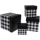 Black & White Buffalo Check Nesting Box Set