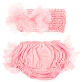 Pink Tulle Bloomers & Headband