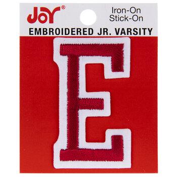 "Red Junior Varsity Letter Iron-On Applique E - 2"""