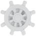 White Nautical Wheel Knob