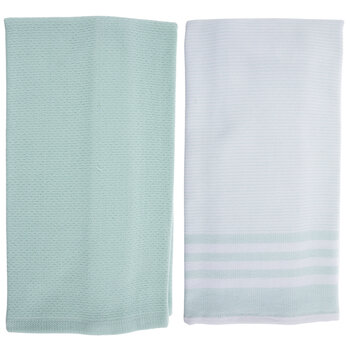 Solid & Striped Kitchen Towels