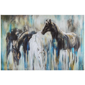 Abstract Horse Canvas Wall Decor