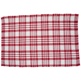 Red & White Plaid Rug