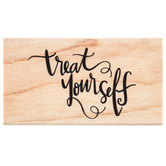 Treat Yourself Rubber Stamp