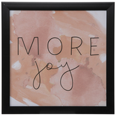 More Joy Watercolor Wood Wall Decor