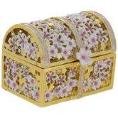 Floral Treasure Chest Jewelry Box
