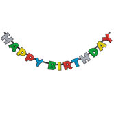 Colorful Happy Birthday Glitter Banner