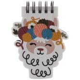 Llama With Yarn Crown Notepad