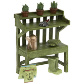Potting Bench With Garden Accessories