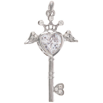 Heart Queen Key Pendant