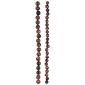 Brown & Black Sandstone Glass Bead Strands