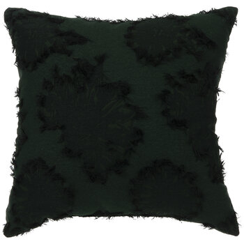 Green Leaf Outlined Pillow