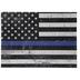 Police Flag Wood Decor