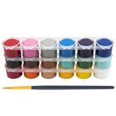 Acrylic Paint Pots - 19 Piece Set