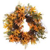 Black Eyed Susan & Pinecone Wreath