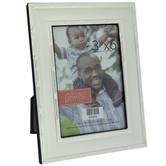 """Silver Metal Frame With Outlined Edges - 3 1/2"""" x 5"""""""