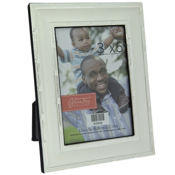 Silver Metal Frame With Outlined Edges