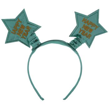 Green Happy New Year Star Headband