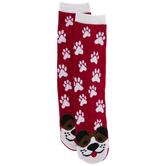 Red Dog & Paw Print Socks