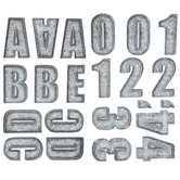 Galvanized Alphabet Stickers