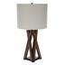 Brown Crossed Wood Lamp