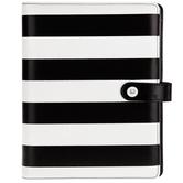 Black & White Striped 6-Ring Planner Binder