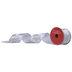 Silver Glitter Poinsettia Wired Edge Ribbon - 2 1/2