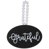 Black & White Grateful Wood Wall Decor