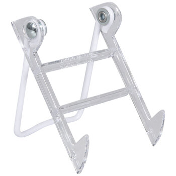 Clear & White Metal Easel