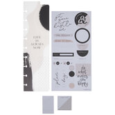 Black & White Happy Planner Accessories