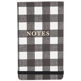 Black & White Buffalo Check Notepad