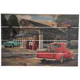 Vintage Gas Station Wood Wall Decor