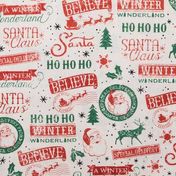 Christmas Sayings Duck Cloth Fabric