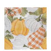 Orange & White Pumpkin Napkins
