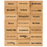 Short Sentiments Rubber Stamps