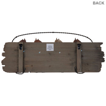 Horse Wood Wall Decor With Hooks