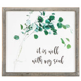 It Is Well With My Soul Wood Wall Decor