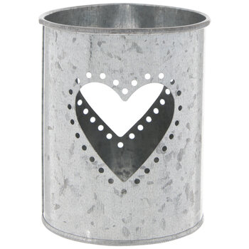 Heart Cutout Metal Candle Holder