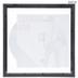 Black Wood Vinyl Record Album Wall Frame - 12