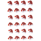 Glitter Santa Hats With Rhinestones Stickers