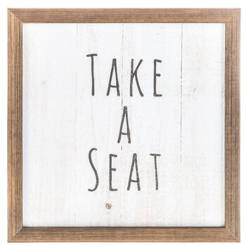 Take A Seat Wood Wall Decor
