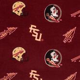 Florida State Allover Collegiate Fleece Fabric
