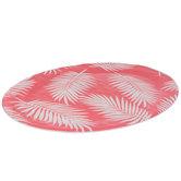 Pink Palm Leaf Platter