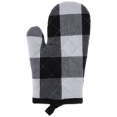 Black & White Buffalo Check Oven Mitt