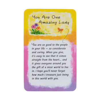 One Amazing Lady Wallet Card