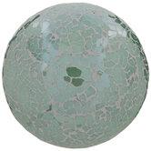 Green Mosaic Decorative Sphere